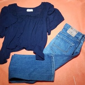 2x1 Hollister Jean's and blouse Combo